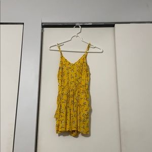 A yellow floral romper!